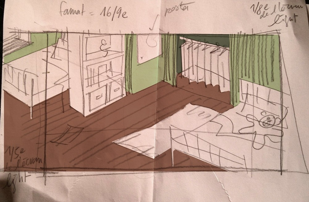 From a few scribbles to a cosy room…